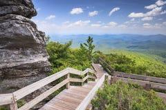 Sentiero costiero nel cielo Ridge North Carolina ruvido Fotografia Stock