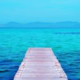 Spiaggia di Ses Illetes a Formentera, Balearic Island, Spagna Fotografie Stock Libere da Diritti