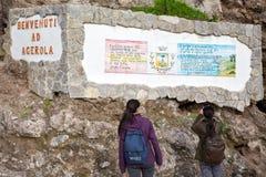 Sentiero degli dei Agerola Włochy Zdjęcia Stock
