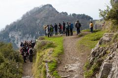 Sentiero degli dei Agerola Włochy Obraz Royalty Free