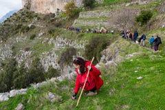 Sentiero degli dei Agerola Włochy Fotografia Stock