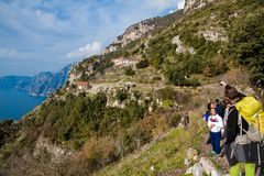 Sentiero degli dei Agerola Włochy Obrazy Royalty Free