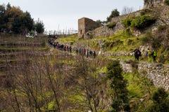 Sentiero degli dei Agerola Włochy Fotografia Royalty Free