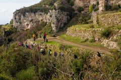 Sentiero degli dei Agerola Włochy Zdjęcie Stock