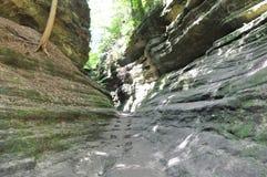 Sentiero per pedoni al canyon francese Fotografia Stock