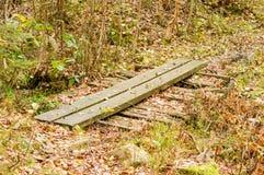 Sentiero per pedoni di legno Immagine Stock Libera da Diritti