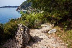 Sentiero per pedoni di Nietzsche in Francia fotografie stock libere da diritti