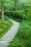 Sentiero per pedoni di pietra in parco Immagine Stock Libera da Diritti