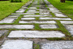 Sentiero per pedoni di pietra in sosta Immagine Stock