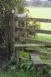 Sentiero per pedoni e scaletta, Regno Unito Immagine Stock