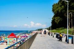 Sentiero per pedoni e spiaggia Fotografie Stock Libere da Diritti
