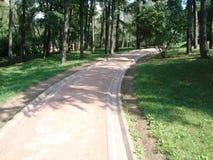 Sentiero per pedoni nel parco di Tsaritsyno Fotografia Stock
