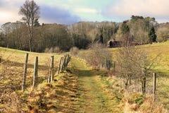 Sentiero per pedoni nelle colline di Chiltern, Regno Unito Immagini Stock