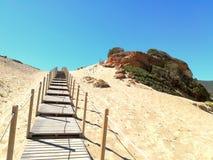 Sentiero sulla sabbia Obrazy Royalty Free