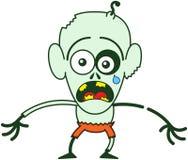 Sentiment mignon de zombi de Halloween effrayé Image libre de droits