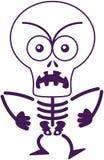 Sentiment squelettique fâché de Halloween furieux et protestation Photographie stock libre de droits