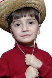 Sentimental Cowboy. Child with cowboy hat Stock Image