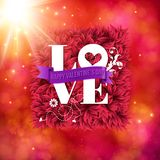 Sentimental Love - Happy Valentines Day card Stock Image
