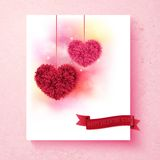 Sentimental Valentine card design with hearts Royalty Free Stock Image