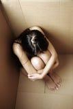 Sentimento asiático da mulher sozinho Imagens de Stock Royalty Free