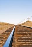 Sentimento de distância retratado pela trilha de estrada de ferro Foto de Stock