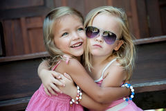 Sentimento de duas crianças Foto de Stock Royalty Free