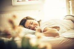 Sentimento descansado e refrescado imagens de stock