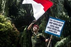 SENTIMENTO DI NAZIONALISMO DELL'INDONESIA Immagine Stock