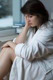 Sentimento mau na manhã Imagem de Stock