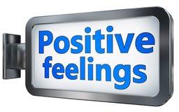 Sentimentos positivos no quadro de avisos ilustração stock