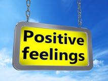 Sentimentos positivos no quadro de avisos ilustração do vetor