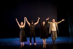 Sentiments embrouill?s 9-Act 2 : Pays des merveilles relation-moderne de danse de triangle photos libres de droits