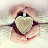 Sentiments et amour de chauffage Photos stock