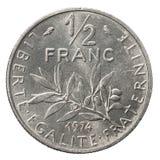 50 sentimos francesi d'argento Immagini Stock