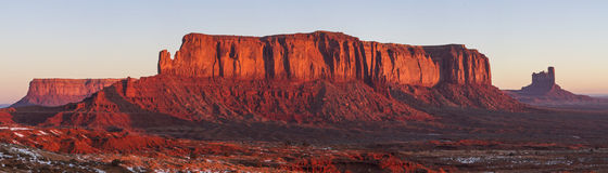 Sentinal Mesa and ig Indian Red Sunrise Royalty Free Stock Photography