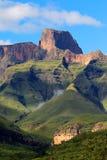 Drakensberg mountains, South Africa. Sentinal peak in the amphitheater of the Drakensberg mountains, Royal Natal National Park, South Africa stock image