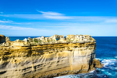 Sentinal rocks in the sea by the Great Ocean Road Royalty Free Stock Photo