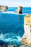 Sentinal rocks in the sea by the Great Ocean Road Royalty Free Stock Photography