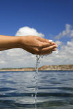 Sentindo a água Imagem de Stock Royalty Free