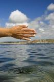 Sentindo a água Foto de Stock