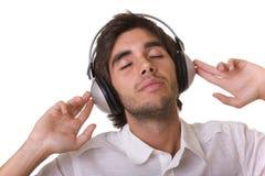 Sentindo a música Fotografia de Stock Royalty Free