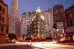 Sentinel Building, San Francisco. Sentinel Building San Francisco at night Royalty Free Stock Images