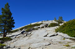 Sentinel Dome. In Yosemite National Park in California Stock Images