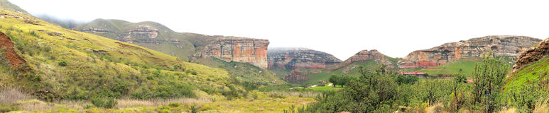 The Sentinel and hotel in the Golden Gate Highlands National Par Stock Photo