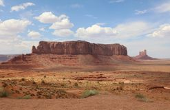 Sentinel Mesa in Monument Valley Royalty Free Stock Photography