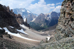 Sentinel Pass in the Canadian Rockies Stock Images