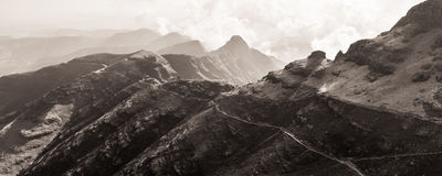 Sentinel Peak and the trekking path Stock Images