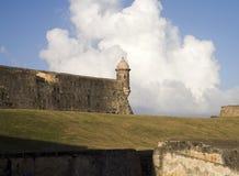 Sentinel at San Felipe del Morro in Puerto Rico. Royalty Free Stock Image