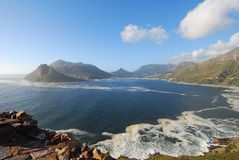 Sentinel view cape Town. View from Chapmans Peak towards Hout Bay, Cape Town Royalty Free Stock Photography