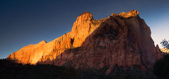 The Sentinel Watchman Trail Zion National Park Utah Royalty Free Stock Photography